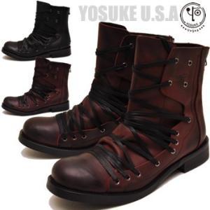 YOSUKE ヨースケ 靴 メンズ レースアップブーツ 本革|hips