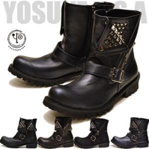 エンジニアブーツ メンズ スタッズ YOSUKE U.S.A ヨースケ ※(予約)は3営業日内に発送|hips