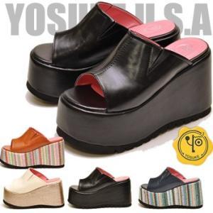 YOSUKE U.S.A ヨースケ 厚底サンダル レディース ミュール ※(予約)は3営業日内に発送|hips
