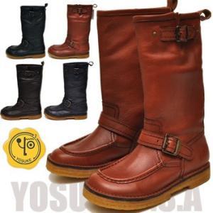 YOSUKE U.S.A ヨースケ ブーツ エンジニアブーツ クレープソールブーツ ミドルブーツ モカシンブーツ ※ご注文後2〜4日後のお届けです!|hips
