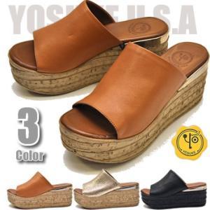 YOSUKE ヨースケ 靴 厚底ミュールサンダル 本革 レディース|hips