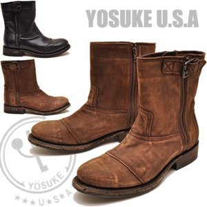 YOSUKE U.S.A ヨースケ メンズ エンジニアブーツ 本革 IMPORTED BY YOSUKE メキシコのMURO BOOTS|hips