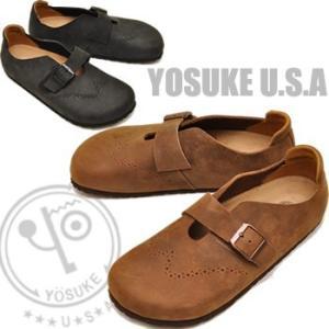 YOSUKE U.S.A ヨースケ スリッポンシューズ メンズ 本革 ※(予約)は3営業日内に発送 hips