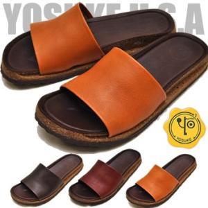 フラットサンダル 本革 レディース YOSUKE ヨースケ 靴 ※(予約)は3営業日内に発送|hips