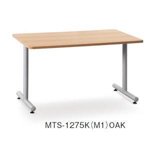 【送料無料】【会議テーブル】アイコ MTSテーブル T脚 スチールパイプ塗装脚タイプ 幅120×奥行75cm【オフィス家具】|hiranoshouten1957