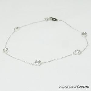 K18WG ダイヤモンドブレスレット|hiranoya78