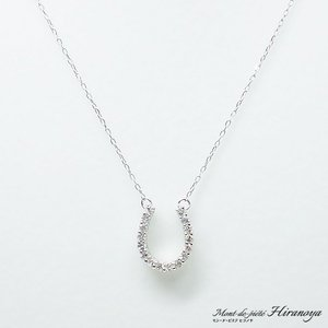 K18WG ダイヤモンドペンダントネックレス|hiranoya78