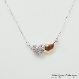 K18/K18WG ダイヤモンドペンダントネックレス|hiranoya78