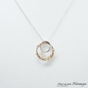 K18WG/K18 ダイヤモンドペンダントネックレス|hiranoya78