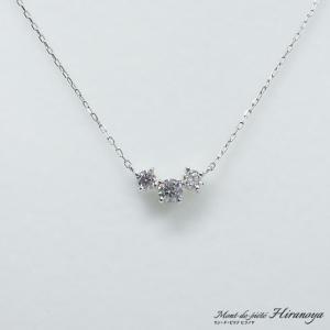 プラチナ ダイヤモンドペンダントネックレス|hiranoya78