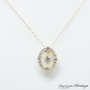 K18 ダイヤモンドペンダントネックレス|hiranoya78