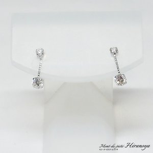 K18WG ダイヤモンドピアス|hiranoya78