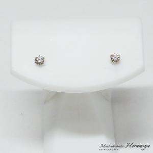 プラチナ ダイヤモンドピアス|hiranoya78