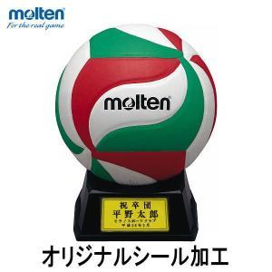 サインボール バレーボール オリジナルシール加工 molten  モルテン V1M500 卒業 優勝 記念品 マスコット