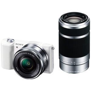 ソニー SONY ミラーレス一眼 α5100 ダブルズームキット E PZ 16-50mm F3.5-5.6 OSS + E 55-210mm F4.5-6.3 OSS ホワイト ILCE-5100Y|hirazen