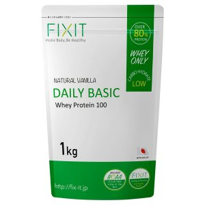 FIXIT プロテイン ホエイ プロテイン DAILY BASIC 1kg (バニラ)|hirazen