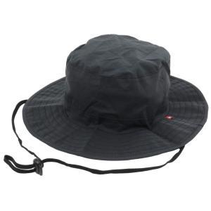 [エドウィン] レインウェア ハット レインハット 防水 雨具 アウトドア メンズ ブラック M|hirazen