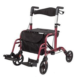 車椅子 歩行器 アシストウオーカー 室内室外兼用歩行車 歩行補助 ブレーキ機能 アルミ合金製 4輪歩行器 高さ調節可|hirazen