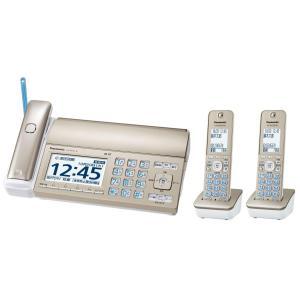 パナソニック おたっくす デジタルコードレスFAX 子機2台付き 迷惑電話対策機能搭載 シャンパンゴールド KX-PD725DW-N|hirazen