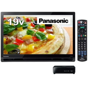 パナソニック 19V型 ポータブル 液晶テレビ プライベート・ビエラ ブラック UN-19F9-K|hirazen