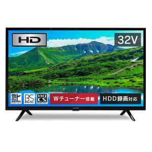アイリスオーヤマ 32V型 液晶テレビ ハイビジョン ダブルチューナー内蔵 外付HDD対応(裏番組録画対応) 32WB10P|hirazen