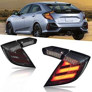 YUANZHENG シビック FK8 TYPE-R テールランプ全LEDテールライト 流れるウインカー ランニングライト 左右2点セット新品 LED スモーク For CIVIC FK8 TYPE-R Tail|hirazen
