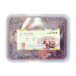 冷凍 利久 辛いケジャン 500g|hiroba