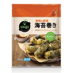 冷凍 bibigo 海苔巻き天ぷら (春雨&野菜) 400g hiroba