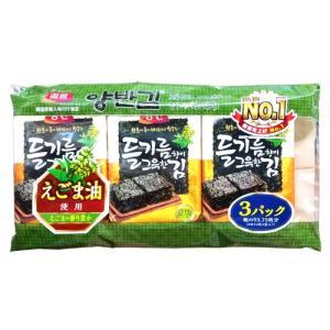 ヤンバン エゴマ油弁当用海苔 (8切X10枚X3袋)