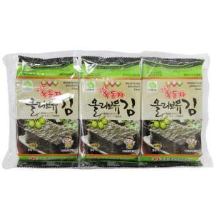 オッドンジャ オリーブ油 味付け弁当用海苔 (8枚切3袋入)|hiroba