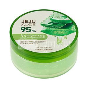 The Face Shop ジェジュアロエスージングゲルクリーム (クリーム,300mL) 韓国コス...
