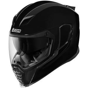 【USA在庫あり】 0101-10856 アイコン ICON フルフェイスヘルメット Airflite Gloss 黒 Mサイズ(57cm-58cm) HD店|hirochi2