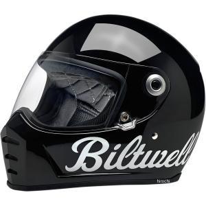 【USA在庫あり】 0101-11551 ビルトウェル Biltwell フルフェイスヘルメット Lane Splitter 黒(つや有り) XXL HD店|hirochi2