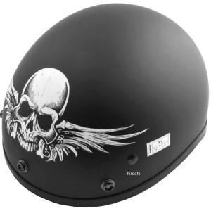 【USA在庫あり】 0103-0853 AFX ハーフヘルメット FX-70 スカル 黒(つや消し) XSサイズ (53cm-54cm) HD|hirochi2