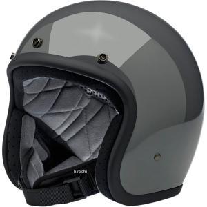 【USA在庫あり】 0104-2432 ビルトウェル Biltwell ジェットヘルメット Bonanza グレー(つや有り) XS HD店|hirochi2