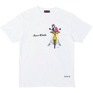 ホンダ純正 2019年秋冬モデル Tシャツ SUPER CUB イラスト サイズ:XL カラー:Bタ...