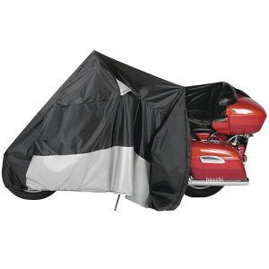 【USA在庫あり】 105085 ダウコ DOWCO バイクカバー ガーディアン ジッパー付き 黒/シルバー XL HD|hirochi2