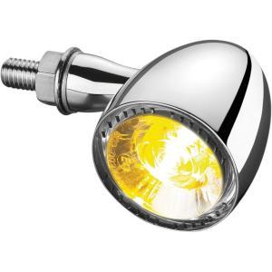 【USA在庫あり】 2020-1650 クリアキン Kuryakyn LEDウインカー ケラーマン Bullet 1000 フロント 白/アンバー クローム HD店 hirochi2