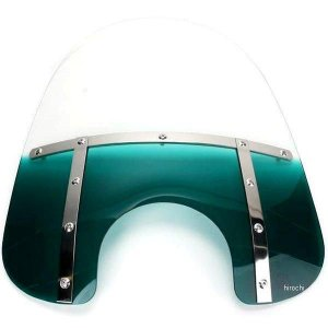 【USA在庫あり】 2313-0067 メンフィスシェード Memphis Shades ウインドシールド ファット 15インチ高/ライト用カット幅7インチ 青緑色 HD|hirochi2