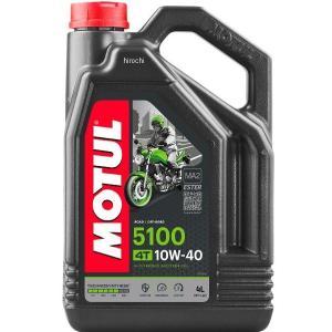 【即納】 3601-0060 モチュール MOTUL 5100 半化学合成 4スト エンジンオイル 10W40 1ガロン(3.8L) HD店|hirochi2