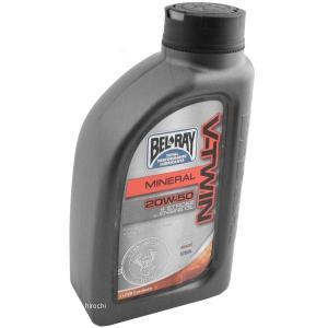 【USA在庫あり】 3601-0249 ベルレイ BEL-RAY 鉱物油 V-TWIN エンジンオイル 20W50 1リットル HD店|hirochi2