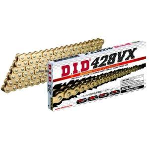 DID 428VX-136L FJ(クリップ) GOLD 4525516378338 DID 大同工業 チェーン 428VX シリーズ ゴールド (136L) クリップ HD店|hirochi2