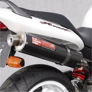 10253-01NCB ヤマモトレーシング スリップオンマフラー ホーネット250 スペックA SINGLE カーボン HD hirochi2