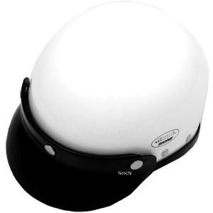 9820-WH イージーライダース ハーフヘルメット ポリスタイプ ラウンドバイザー付き 白 HD店|hirochi2