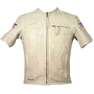 カドヤ パンチングレザーTシャツ サイズ:M カラー:アイボリー 着脱可能パッド標準装備:背 素材 ...