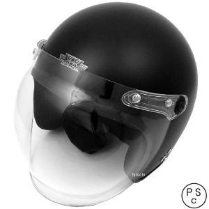 【メーカー在庫あり】 4984679511097 TNK工業 ジェットヘルメット XX-606 ハーフマットブラック XXLサイズ(62-64cm) HD|hirochi2