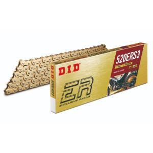 520ERS3-108L-GD-ZJ 4525516907347 DID 大同工業 チェーン 520ERS3 レース用 ERシリーズ ゴールド (108L) カシメ HD店|hirochi2