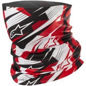 8033637210711 アルパインスターズ Alpinestars 2018年秋冬モデル ネックウォーマー BLURRED NECK TUBE 黒/白/赤 フリーサイズ HD店 hirochi2