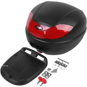 NBS バイクパーツセンター リアボックス カラー:黒/赤 サイズ:32L 外寸法:高さ31cm×幅...