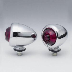 【メーカー在庫あり】 HD-01144 キジマ オールド ブレットウインカー クローム/赤 左右ペア|hirochi2